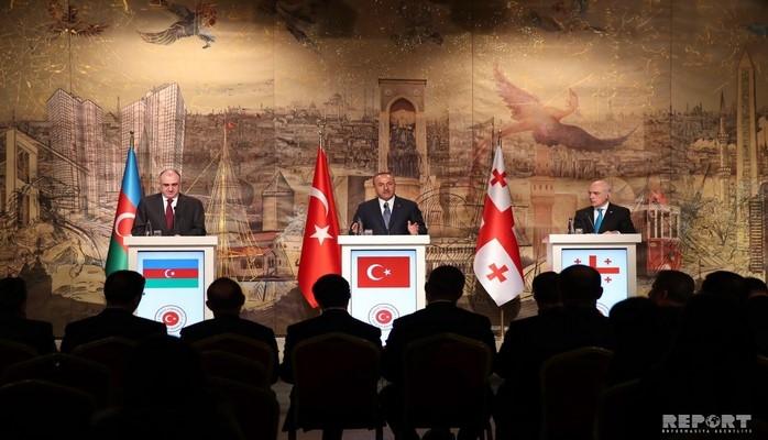 Türkiyə, Azərbaycan və Gürcüstan XİN başçılarının görüşünün yekununda İstanbul bəyannaməsi qəbul olunub