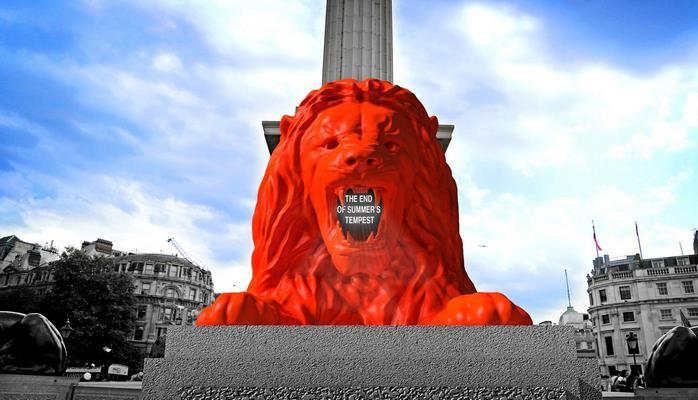 В Англии установили говорящую скульптуру льва