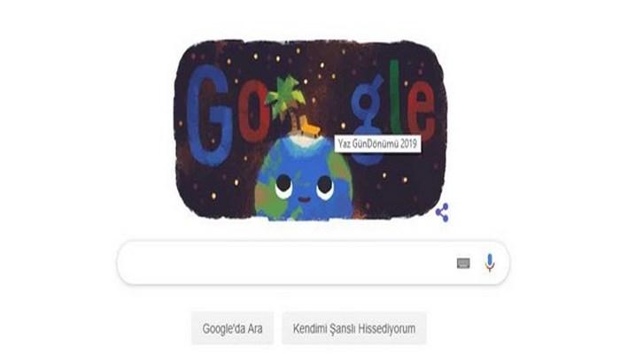 Google'dan en uzun gündüz 21 Haziran Yengeç Ekinoksu için özel Doodle (Yaz Gündönümü 2019)