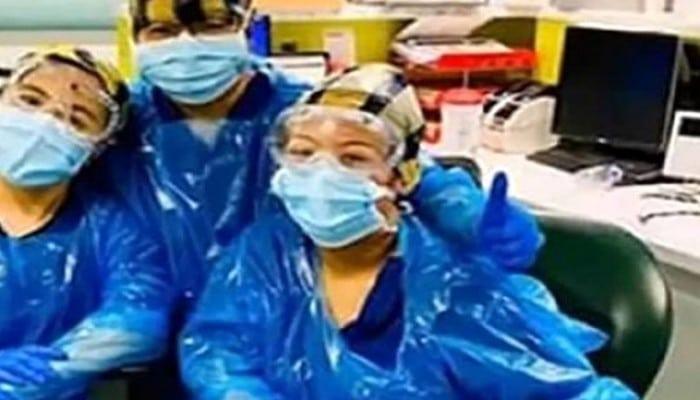 Zibil torbası geyinərək müdaxilə edən üç tibb işçisi koronavirusa yoluxdu