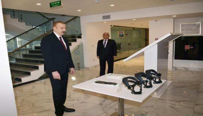 Президент Ильхам Алиев принял участие в открытии после реконструкции Главного управленческого, научно-образовательного и лабораторного комплекса ОАО «Азерэнержи»