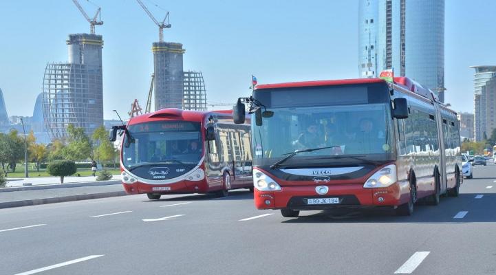 В Баку изменены направления движения автобусов по трем регулярным маршрутам