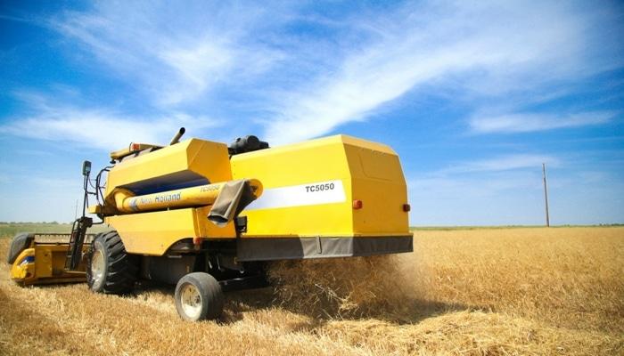 235 min hektardan artıq ərazidə taxıl biçini aparılıb