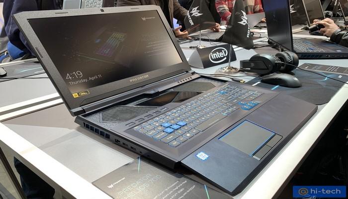 Acer представила Helios 700: самый необычный игровой ноутбук