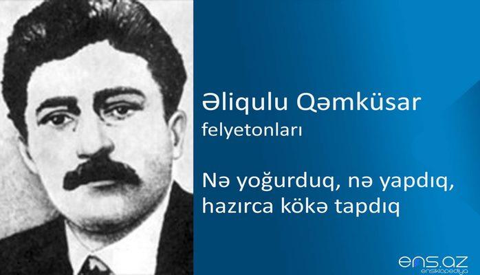 Əliqulu Qəmküsar - Nə yoğurduq, nə yapdıq, hazırca kökə tapdıq