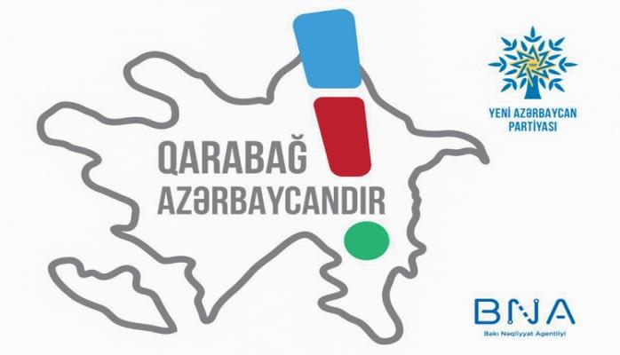 """Prezident İlham Əliyevin """"Qarabağ Azərbaycandır!"""" mesajı paytaxtdakı elektron məlumat tablolarında yayımlanıb"""