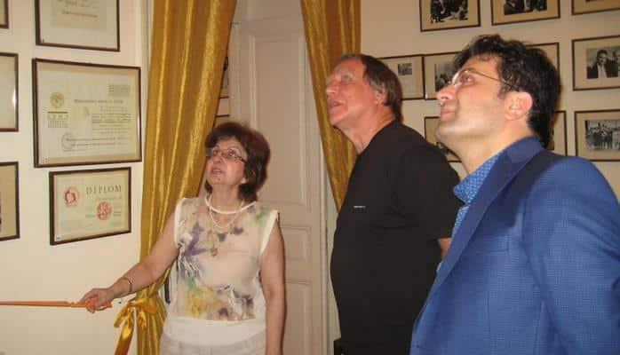 Известный российский музыкант Сергей Ролдугин посетил Дом-музей Ростроповичей в Баку