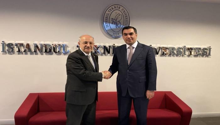 Эльмар Гасымов встретился с ректором Стамбульского технического университета