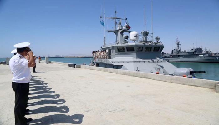 Qazaxıstanın hərbi gəmisi Bakı limanını tərk edib