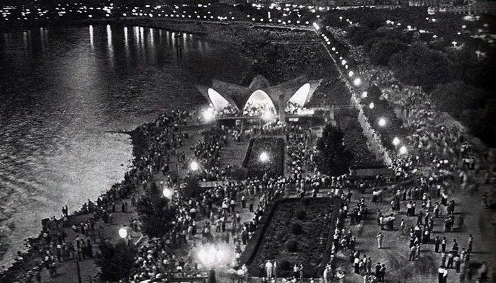 Ночной Бакинский бульвар в 1950-1990 гг. (ФОТО)