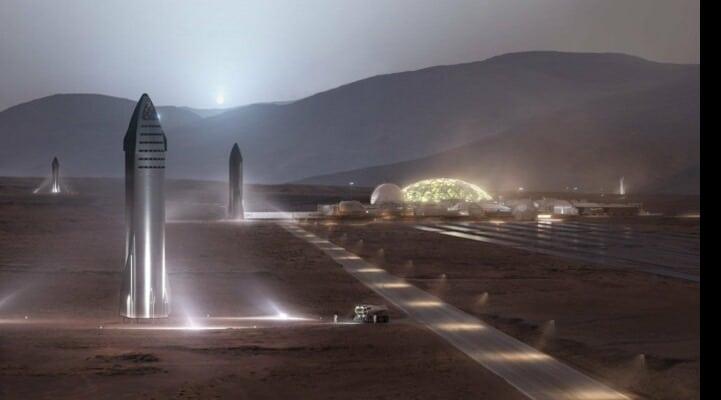 Илон Маск запланировал отправить миллион человек на Марс к 2050 году