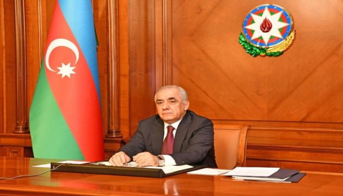 Премьер-министр Азербайджана обратится к населению по ТВ