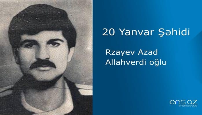 Rzayev Azad Allahverdi oğlu