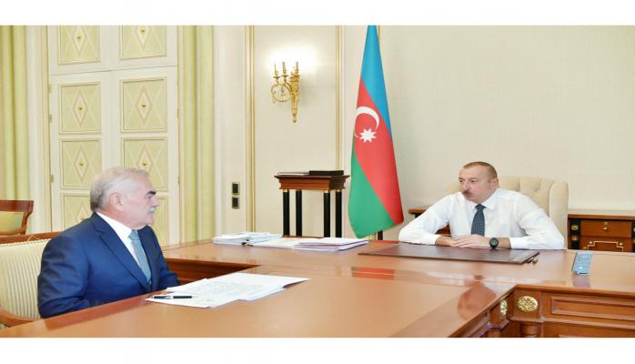 Президент Ильхам Алиев принял  председателя Верховного меджлиса Нахчыванской АР