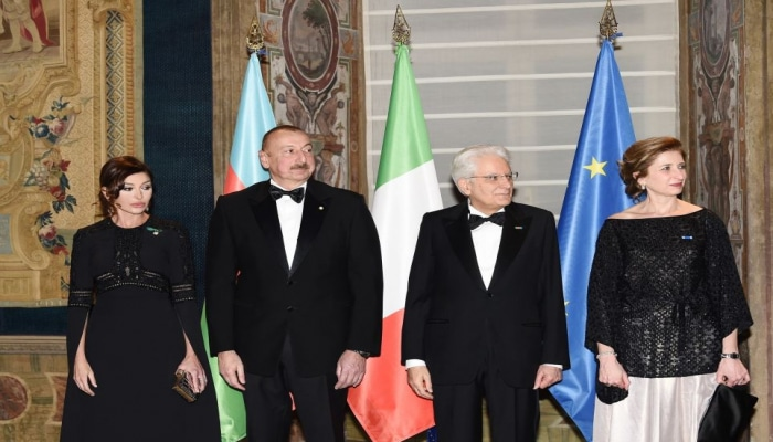 В честь Президента Азербайджана в Риме был дан государственный прием