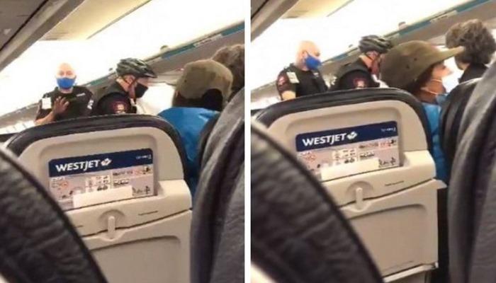 9 aylık bebeğine maske takmayan anne uçaktan indirildi