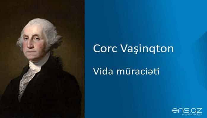 Corc Vaşinqton - Vida müraciəti