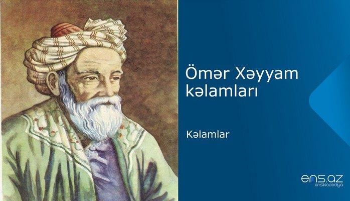 Ömər Xəyyam - Kəlamlar