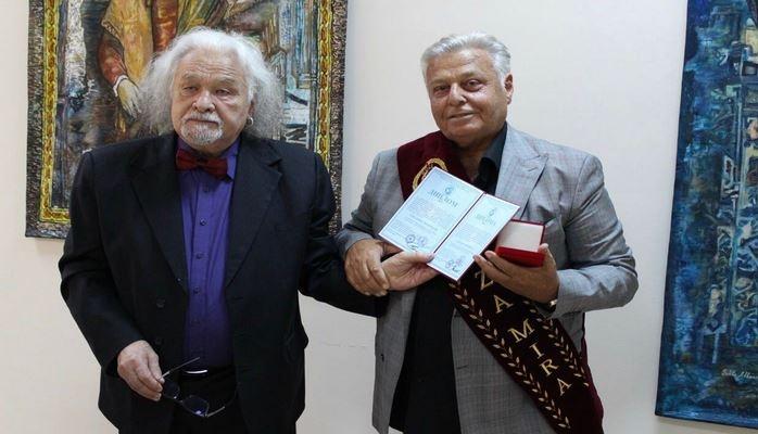 Выдающийся азербайджанский художник Ариф Азиз награжден золотой медалью «Roses of the world»