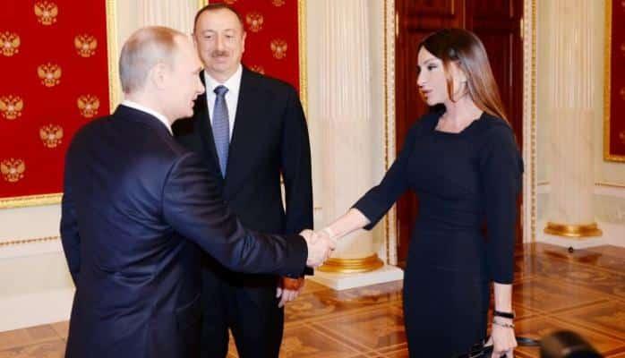 Putin Mehriban Əliyevaya orden verdi
