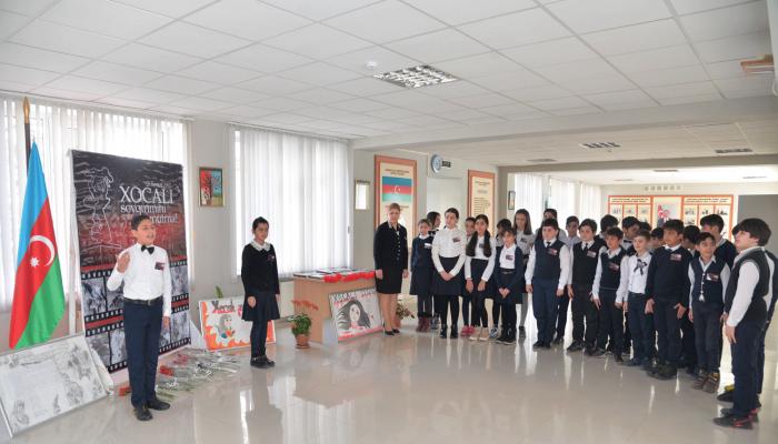 Первый урок в школах Баку сегодня был посвящен Ходжалинскому геноциду
