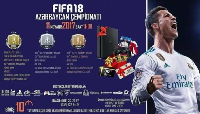 Azərbaycanda ilk dəfə FIFA18 konsol oyunu üzrə çempionat