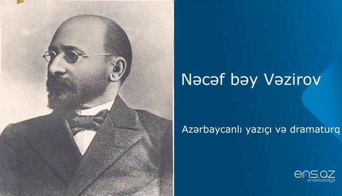 Nəcəf bəy Vəzirov - Azərbaycanlı yazıçı və dramaturq