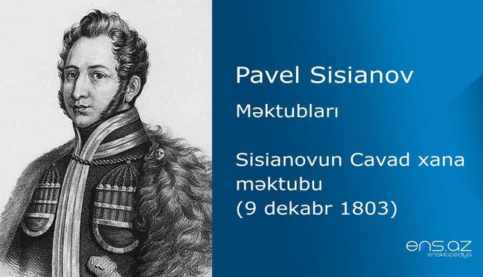 Pavel Sisianov - Sisianovun Cavad xana məktubu (9 dekabr 1803)