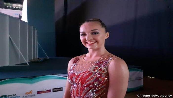 Спасибо Федерации гимнастики Азербайджана за такую прекрасную организацию - эстонская спортсменка