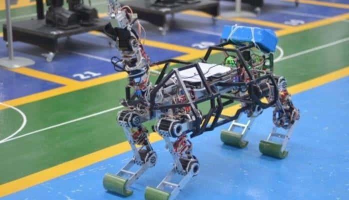 Konya'da 4 ayaklı robot üretildi!