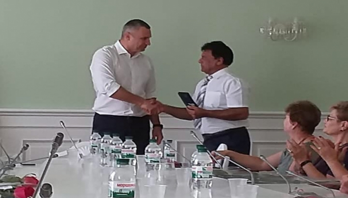 Ukraynadakı soydaşımız dövlət ordeni ilə təltif edilib