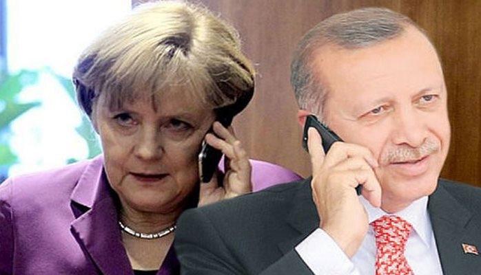 Ərdoğanla Merkelin telefon danışığı oldu