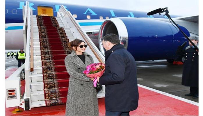 Первый вице-президент Азербайджана Мехрибан Алиева прибыла с официальным визитом в Россию