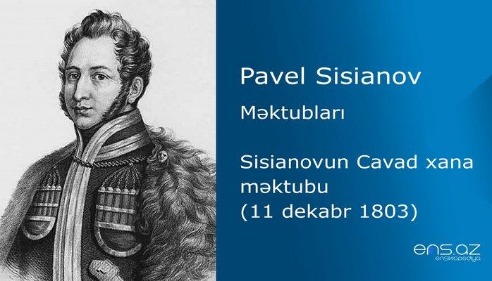 Pavel Sisianov - Sisianovun Cavad xana məktubu (11 dekabr 1803)