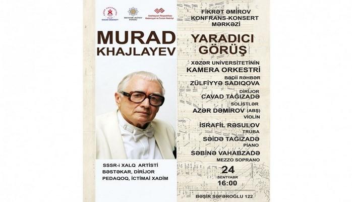 Görkəmli bəstəkar Murad Kajlayevin müəllif gecəsi keçirilib