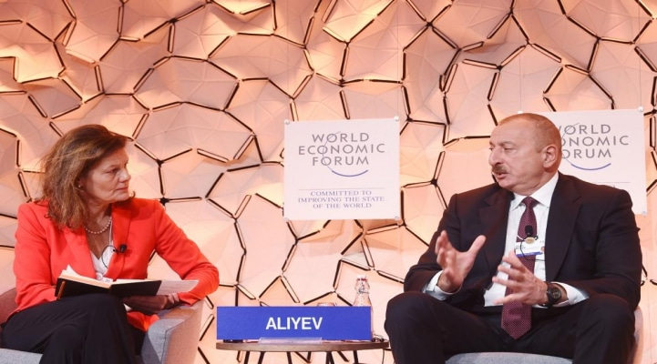 Важный акцент от Президента Ильхама Алиева. В Давосе напомнили миру о приоритетах внешней политики Баку