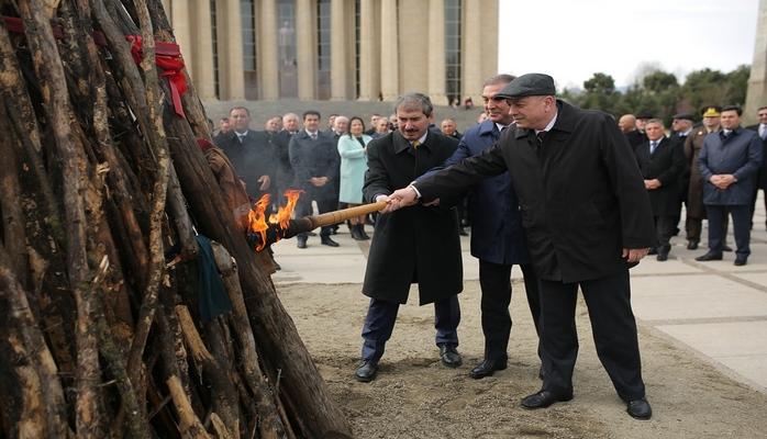 Gəncədə Novruz bayramı böyük coşqu ilə qeyd edilib