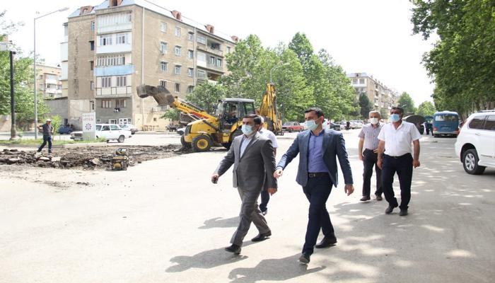 Gəncədə aparılan təmir-tikinti və abadlıq-quruculuq işləri davam etdirlir