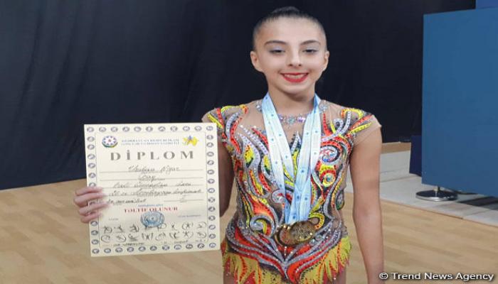 Награждены победители Чемпионата Азербайджана и Баку по художественной гимнастике в упражнениях c булавами и лентой