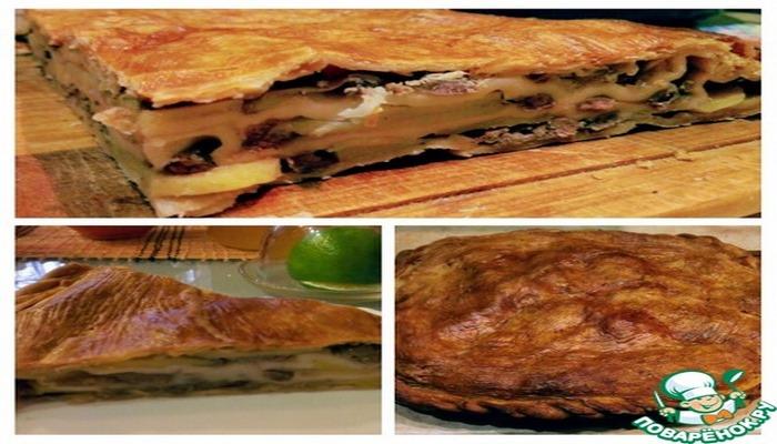 Лезгинский пирог с картофелем и мясом
