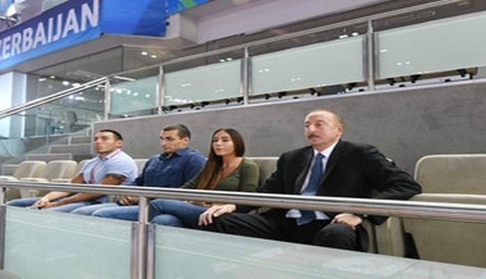 Президент Азербайджана посмотрел поединок за бронзовую медаль Чемпионата мира по дзюдо в Баку