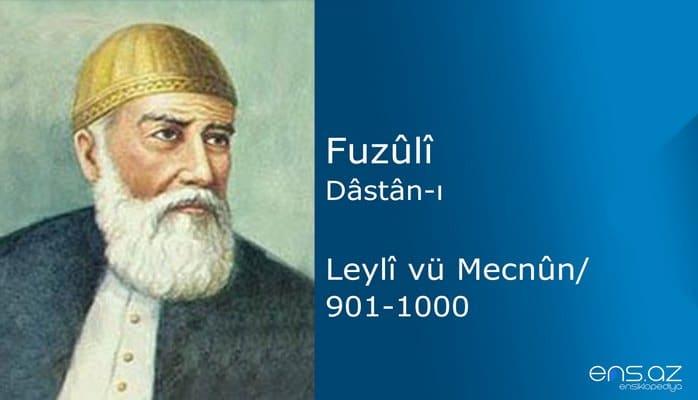 Fuzuli - Leyla ve Mecnun/901-1000