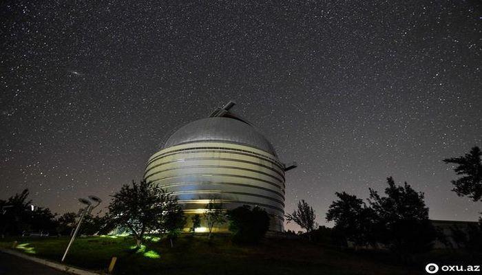 Шамахинская обсерватория: звездопад, Млечный Путь
