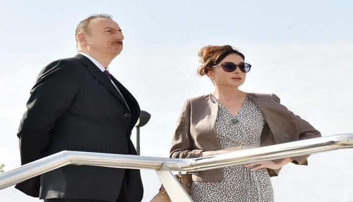 Президент Ильхам Алиев и Первая леди Мехрибан Алиева ознакомились с условиями в парке Нефтяников в Баку