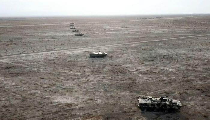 В рамках учений ВС Азербайджана проведена передислокация войск