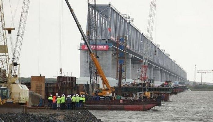 Китай завершил строительство своей части железнодорожного моста через Амур