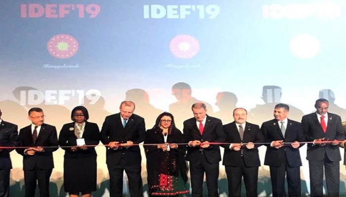 Закир Гасанов принял участие в церемонии открытия выставки IDEF-2019
