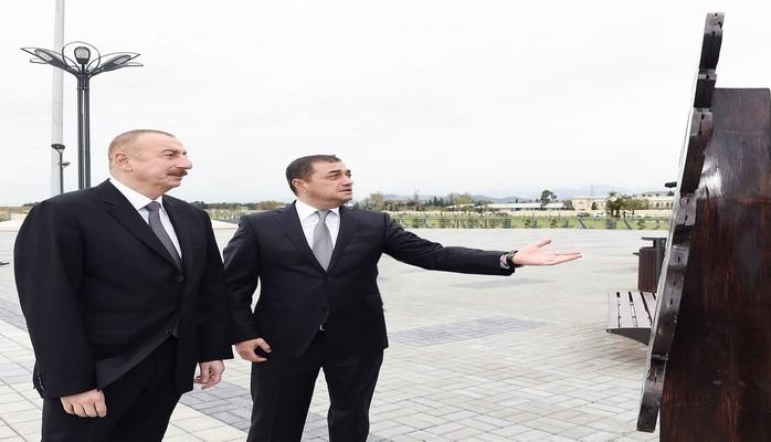 Ильхам Алиев ознакомился с условиями, созданными в рамках строительства второй части комплекса приморского парка-бульвара в Астаре