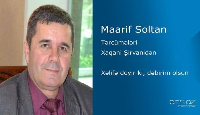 Maarif Soltan - Xəlifə deyir ki, dəbirim olsun