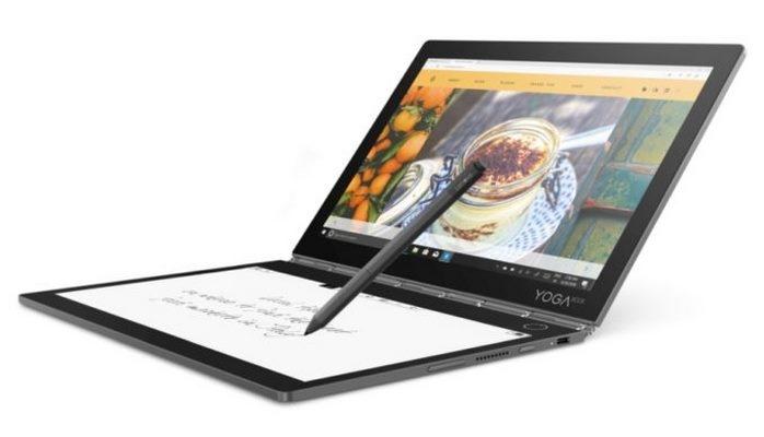 Lenovo показала ноутбук-трансформер с E-Ink-экраном вместо клавиатуры